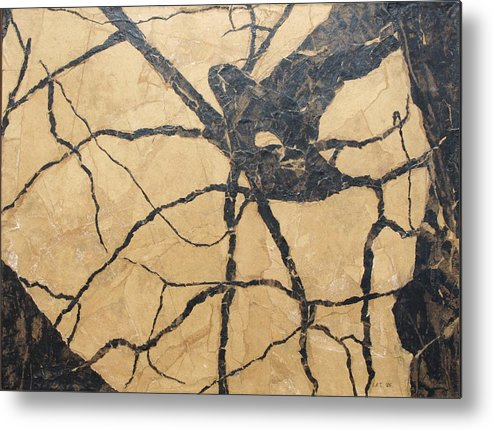 Abstract Metal Print featuring the painting Looking Up by Leah Tomaino