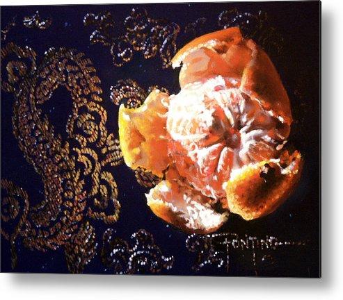 Mandarin Metal Print featuring the painting Mandarin by Dianna Ponting