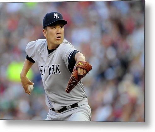 Second Inning Metal Print featuring the photograph Masahiro Tanaka by Hannah Foslien
