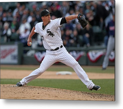 American League Baseball Metal Print featuring the photograph Matt White by Jonathan Daniel