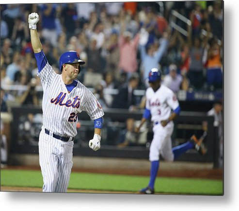 People Metal Print featuring the photograph Michael Cuddyer and Curtis Granderson by Al Bello