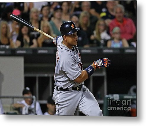 Three Quarter Length Metal Print featuring the photograph Miguel Cabrera by Jonathan Daniel