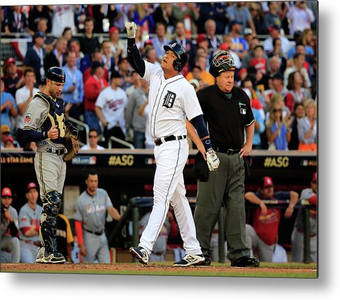 American League Baseball Metal Print featuring the photograph Miguel Cabrera by Rob Carr