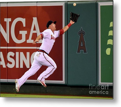 People Metal Print featuring the photograph Mike Trout and Adam Eaton by Harry How