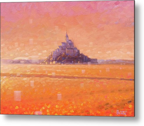 Mont Saint Michel Metal Print featuring the painting Mont Saint Michel by Rob Buntin