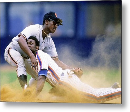 1980-1989 Metal Print featuring the photograph Mookie Wilson by Ronald C. Modra/sports Imagery