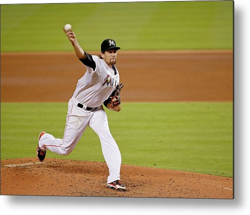 American League Baseball Metal Print featuring the photograph Nathan Eovaldi by Rob Foldy