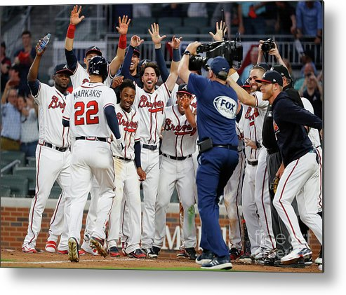 Atlanta Metal Print featuring the photograph Nick Markakis by Kevin C. Cox