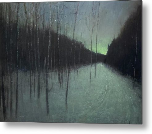 Metal Print featuring the painting Night Luster by Mary Jo Van Dell