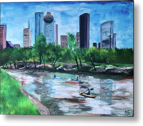 River Metal Print featuring the painting Pon de River by Lauren Luna