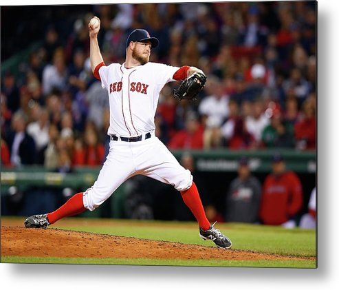 American League Baseball Metal Print featuring the photograph Red Wilson by Jared Wickerham
