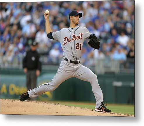 American League Baseball Metal Print featuring the photograph Rick Porcello by Ed Zurga