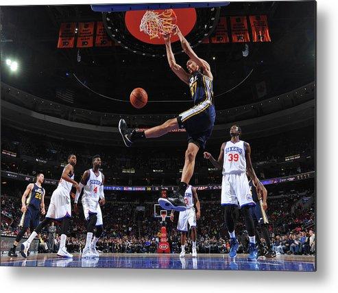 Nba Pro Basketball Metal Print featuring the photograph Rudy Gobert by Jesse D. Garrabrant