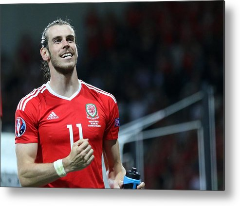International Match Metal Print featuring the photograph Russia v Wales - EURO 2016 by Anadolu Agency