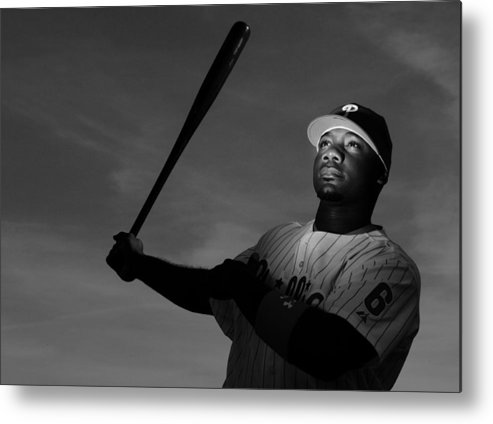 Media Day Metal Print featuring the photograph Ryan Howard by Al Bello