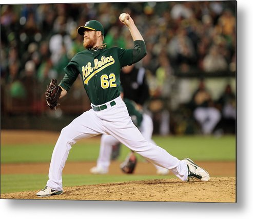 American League Baseball Metal Print featuring the photograph Sean Doolittle by Brian Bahr