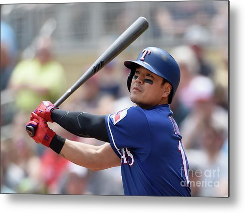 Second Inning Metal Print featuring the photograph Shin-soo Choo by Hannah Foslien