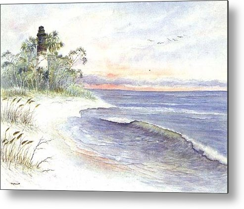 Lighthouse Metal Print featuring the painting Solitude by Ben Kiger
