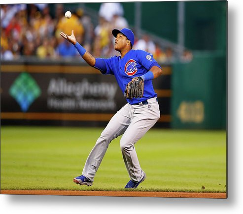 People Metal Print featuring the photograph Starlin Castro by Jared Wickerham