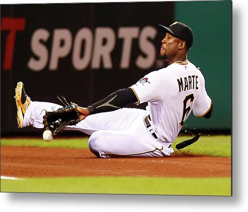 People Metal Print featuring the photograph Starling Marte by Jared Wickerham