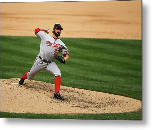 People Metal Print featuring the photograph Tanner Roark by Al Bello
