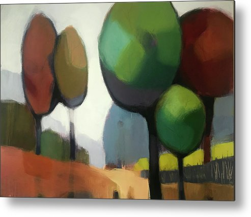 Tree Metal Print featuring the painting Untitled II by Farhan Abouassali