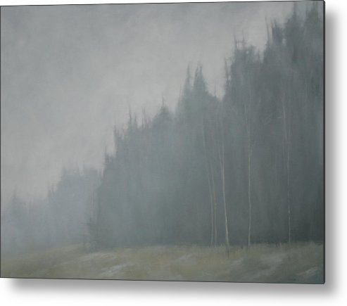 Metal Print featuring the painting Woods Whisper by Mary Jo Van Dell