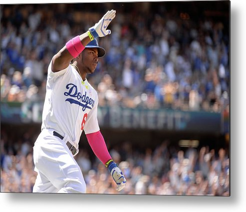 American League Baseball Metal Print featuring the photograph Yasiel Puig by Harry How