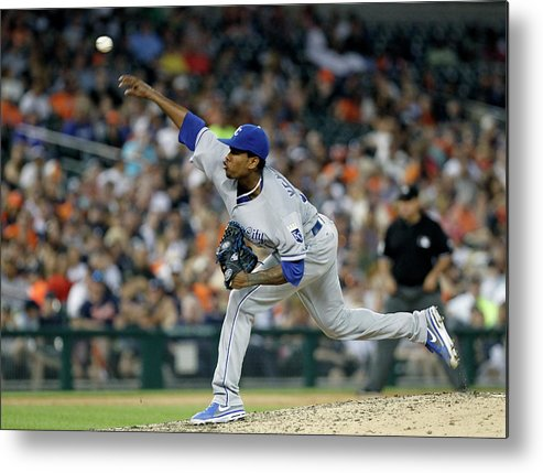 People Metal Print featuring the photograph Yordano Ventura by Duane Burleson