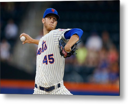 American League Baseball Metal Print featuring the photograph Oakland Athletics V New York Mets by Mike Stobe