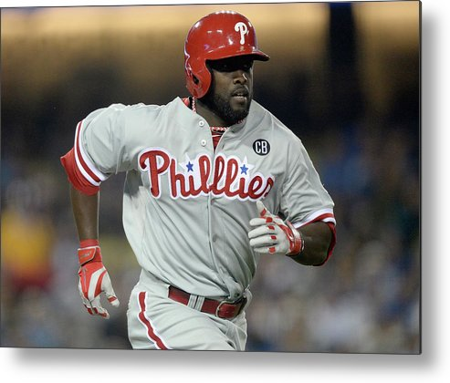 Tony Gwynn Jr. Metal Print featuring the photograph Philadelphia Phillies V Los Angeles by Harry How