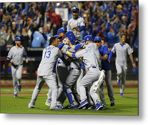 American League Baseball Metal Print featuring the photograph World Series - Kansas City Royals V New by Elsa