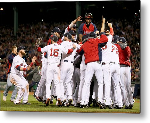 Playoffs Metal Print featuring the photograph World Series - St Louis Cardinals V by Rob Carr