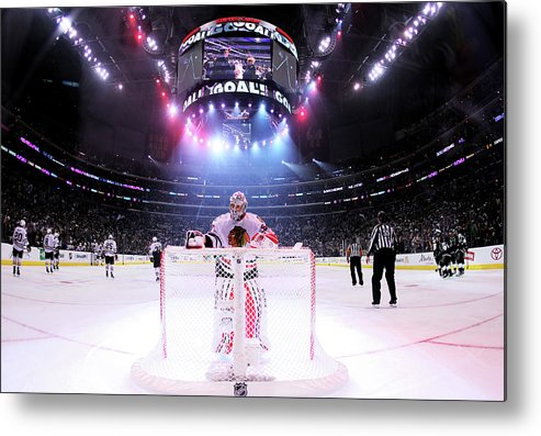 Playoffs Metal Print featuring the photograph Chicago Blackhawks V Los Angeles Kings by Jeff Gross