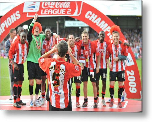 Luton Town F.c. Metal Print featuring the photograph Brentford v Luton Town by Christopher Lee