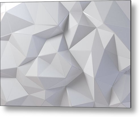 Art Metal Print featuring the photograph 3d Rendering White Background by Yuanyuan Yan