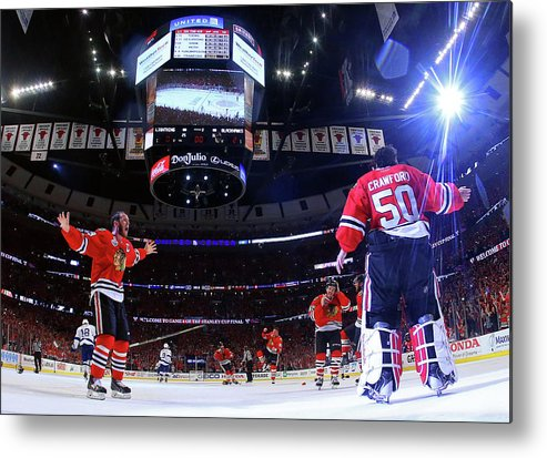 Playoffs Metal Print featuring the photograph 2015 Nhl Stanley Cup Final - Game Six by Bruce Bennett