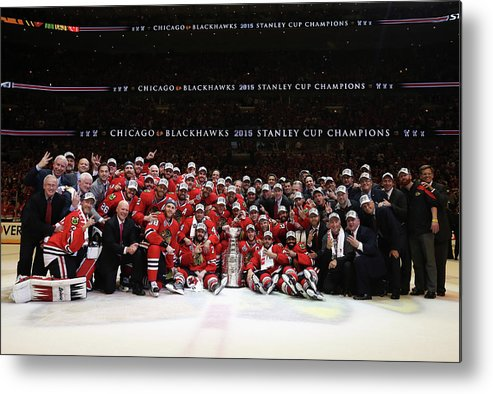 Playoffs Metal Print featuring the photograph 2015 Nhl Stanley Cup Final - Game Six by Dave Sandford