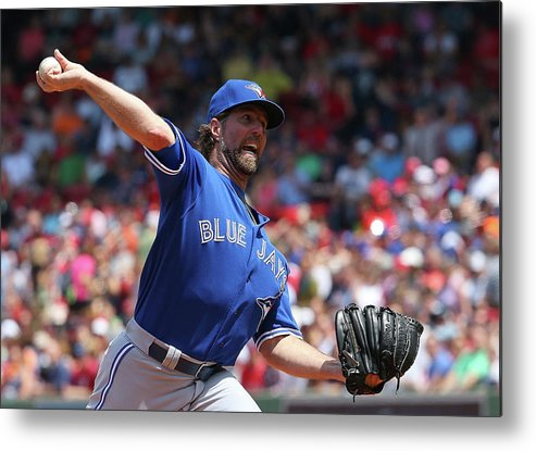 People Metal Print featuring the photograph Toronto Blue Jays V Boston Red Sox by Jim Rogash