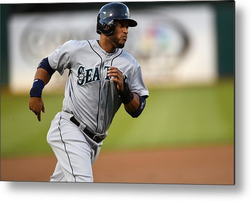 American League Baseball Metal Print featuring the photograph Seattle Mariners V Oakland Athletics by Thearon W. Henderson