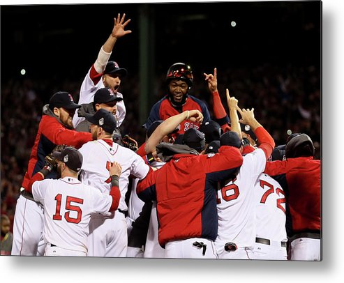 St. Louis Cardinals Metal Print featuring the photograph World Series - St Louis Cardinals V by Rob Carr