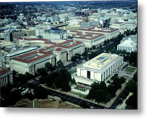 Downtown District Metal Print featuring the photograph Aerial View Of Constitution Avenue by Hisham Ibrahim