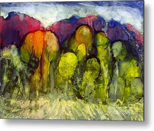 Alcohol Inks Metal Print featuring the painting Ai-2 by Francine Dufour Jones