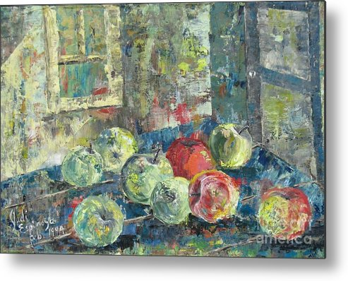 Apples Metal Print featuring the painting Apples - SOLD by Judith Espinoza