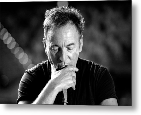 Bruce Springsteen Metal Print featuring the photograph Bruce Springsteen Media Call by Bradley Kanaris