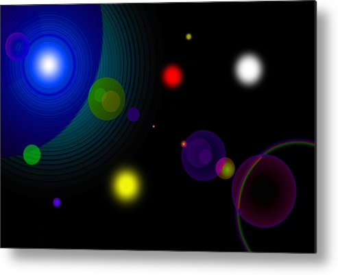Space Metal Print featuring the digital art Counterbalance by Andre Aleksis