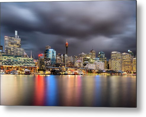 Outdoors Metal Print featuring the photograph Darling Harbour, Sydney - Australia by Atomiczen