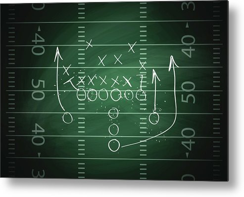 Plan Metal Print featuring the digital art Football Play by Traffic analyzer