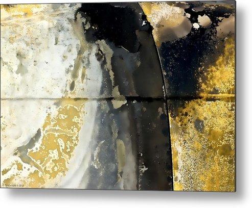 Abstract Photo Metal Print featuring the photograph Golden Bias Trip by Ole Klintebaek