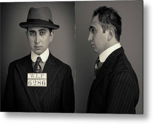 Guilt Metal Print featuring the photograph Hakan The Boss Wanted Mugshot by Nick Dolding